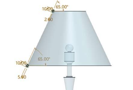 cad自学教程:使用中望3d进行台灯设计