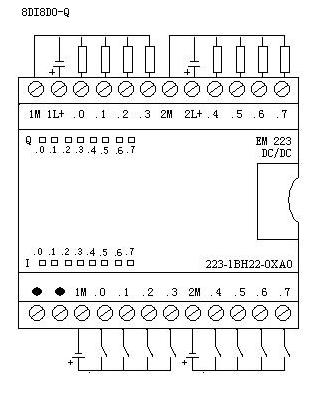 223技术参数em223:un223-1bh22-0xa0从+5vdc消耗电流
