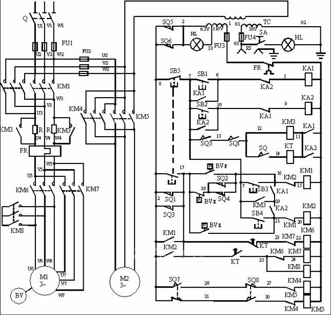 机床配电线路安装设计