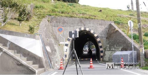 使用 faro laser scanner focus3d 扫描隧道