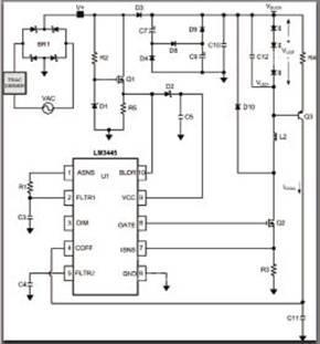 传统的三端双向可控硅调光器通常被设计成连接电阻负载(卤素灯或白炽