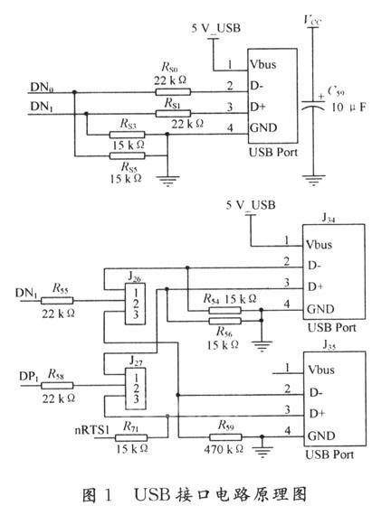 1 usb接口电路    由于s3c2440a内部集成了usb控制器,所以接口电路