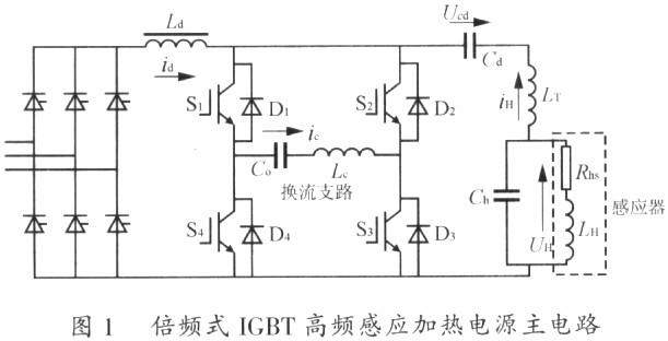 倍频式igbt高频感应加热电源负载短路的保护