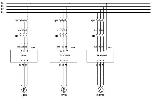锅炉炉排电动机电机端接线图