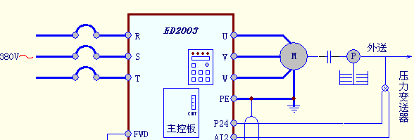 plc水泵实物接线图