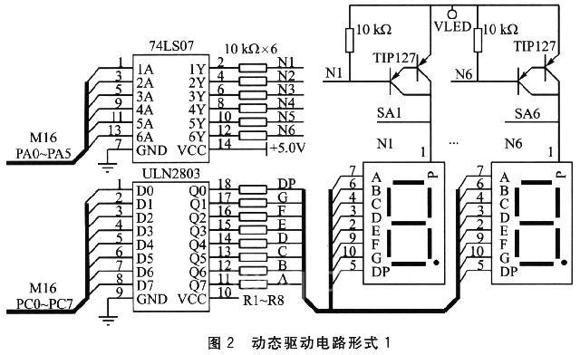 专用芯片完成扫描的动态驱动电路
