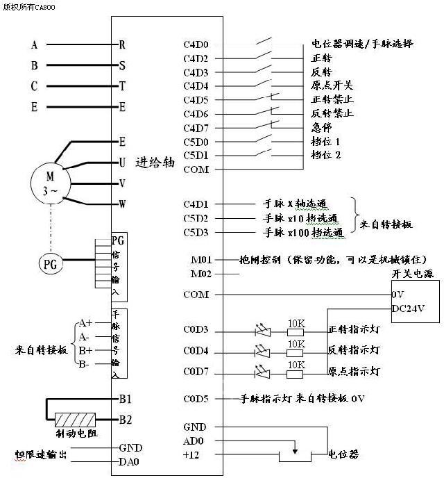 立车电器控制电路图