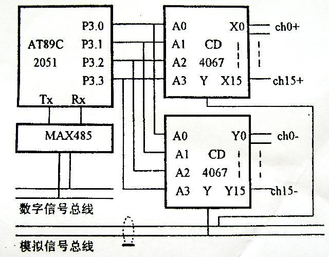 rs485与单片机接线图