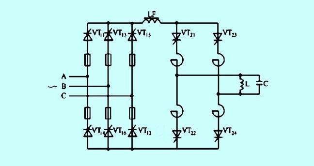 中频电压,电容器支路电流,通过计算与比较,来控制逆变晶闸管的触发