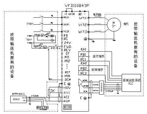 变频器主,控制线接线图
