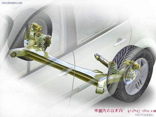 拖曳臂式半独立悬架解析