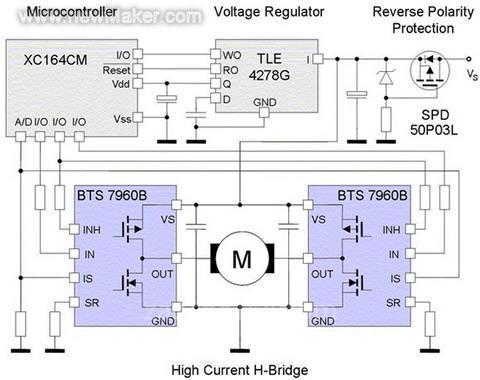 bts7960的一个典型应用电路