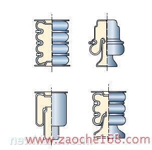 汽车行驶系统--弹簧减震器结构图解