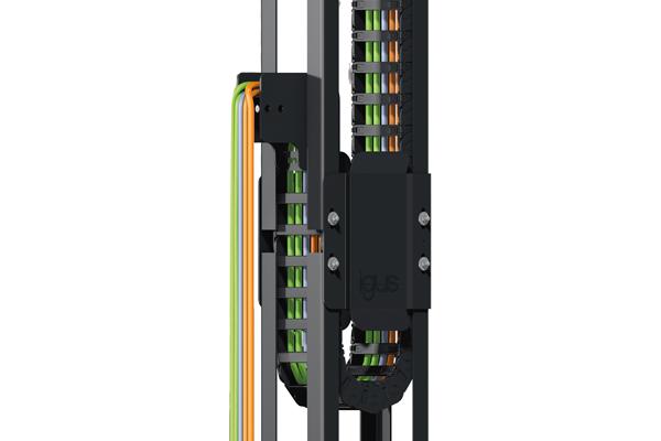 igus 导槽引导拖链安静稳定运行,垂直运行速度达7米/秒