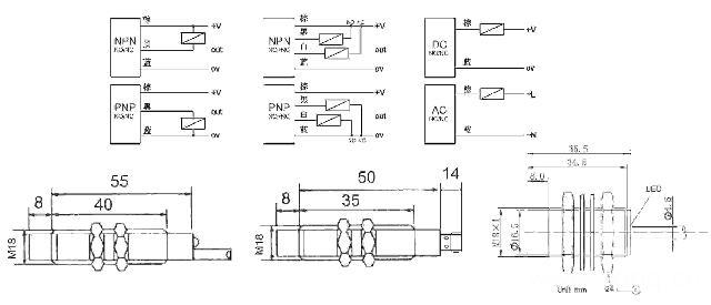 ipsi(l)-18poc5b m18电感式接近开关