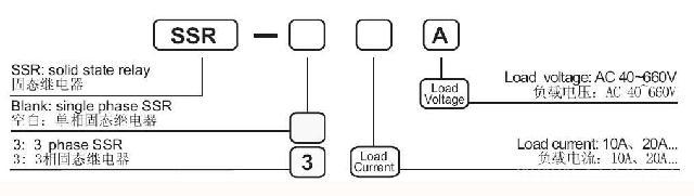 ssr-40a单相固态继电器