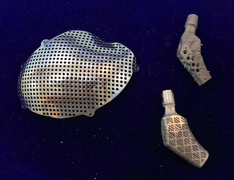 股骨柄(右)及头盖骨骨板(左)植入体设计.png