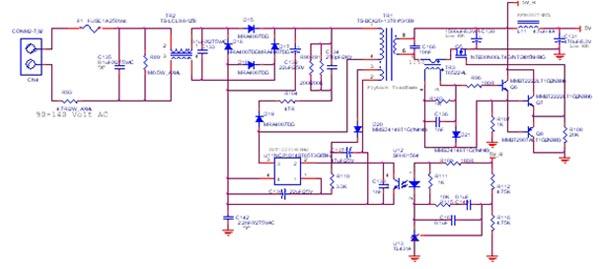 图1:次级同步整流线路.