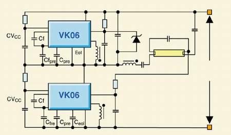 放大器结构中放置一个双极高压达林顿晶体管和一个低压mos场效应晶体