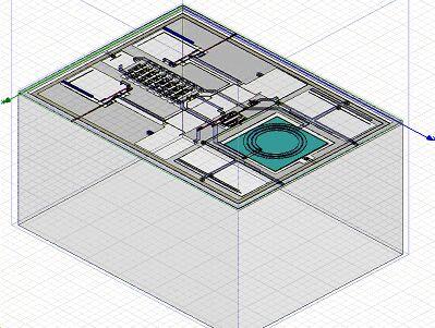 在hfss中仿真的关键vco电路版图几何尺寸