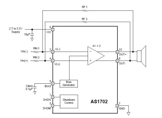ab类差分输入,差分输出音频放大器原理图.
