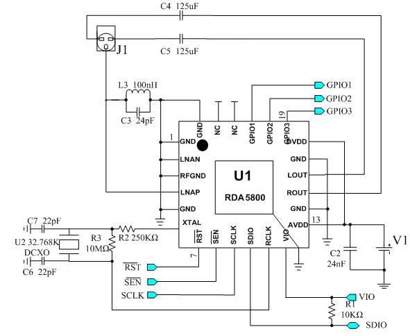 lc72131收音头电路图